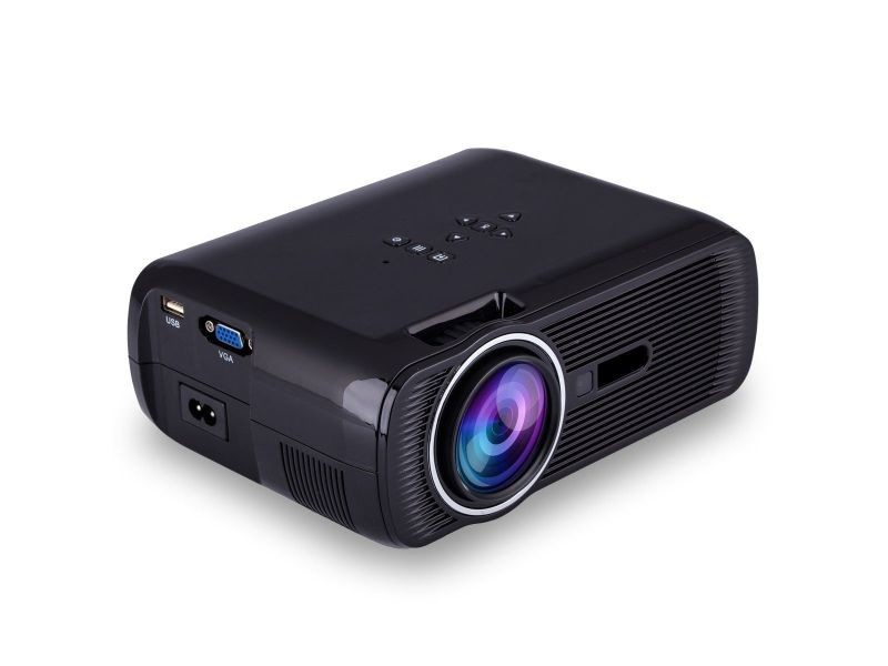 mini vid oprojecteur portable led 1000 lumens hd carte sd usb noir vente de vid oprojecteur. Black Bedroom Furniture Sets. Home Design Ideas