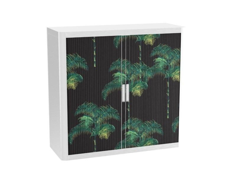 Armoire de bureau métalique porte coulissante h 1m - palmiers