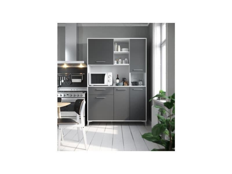Eco buffet de cuisine l 120 cm - gris mat T75311MM07LVO