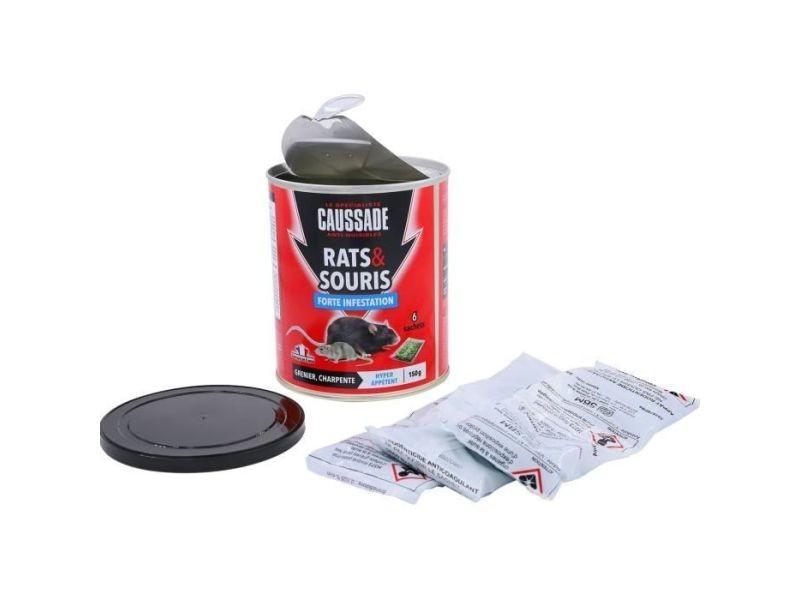 Anti-nuisible plante - traitement plante caussade boîte 6 sachets céréales - pour rats & souris - 150 g