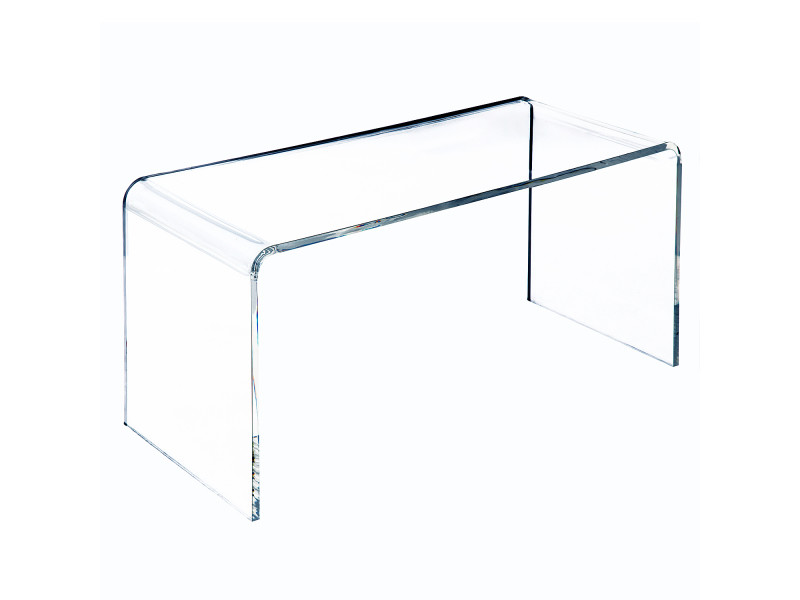 Table basse verre acrylique transparent 52 vente de homcom conforama - Table basse acrylique ...