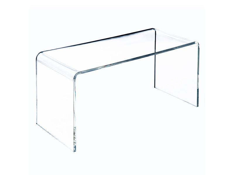 table basse verre acrylique transparent 52 vente de homcom conforama. Black Bedroom Furniture Sets. Home Design Ideas