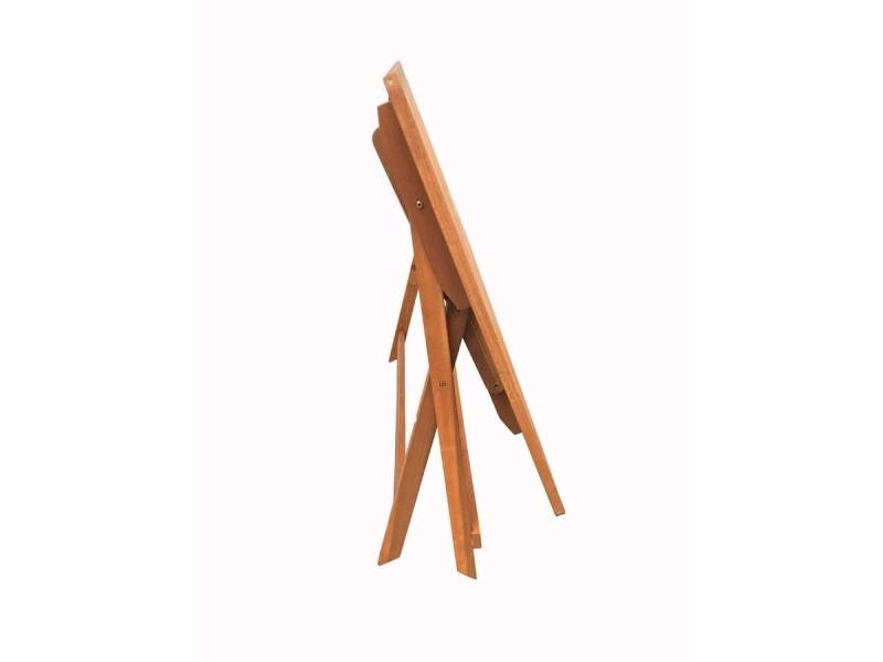 Table pliante bois exotique \