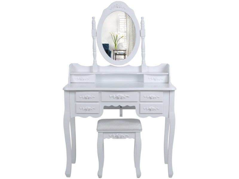 Miroir triptyque conforama beautiful coiffeuse bois avec for Coiffeuse conforama