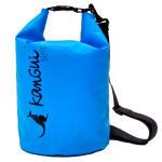 Sac étanche 10l - bleu + sangle - activités de plein air et sports aquatiques