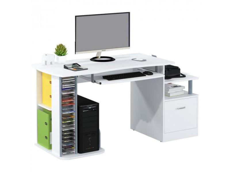 Bureau informatique kong blanc brillant vente de bureau