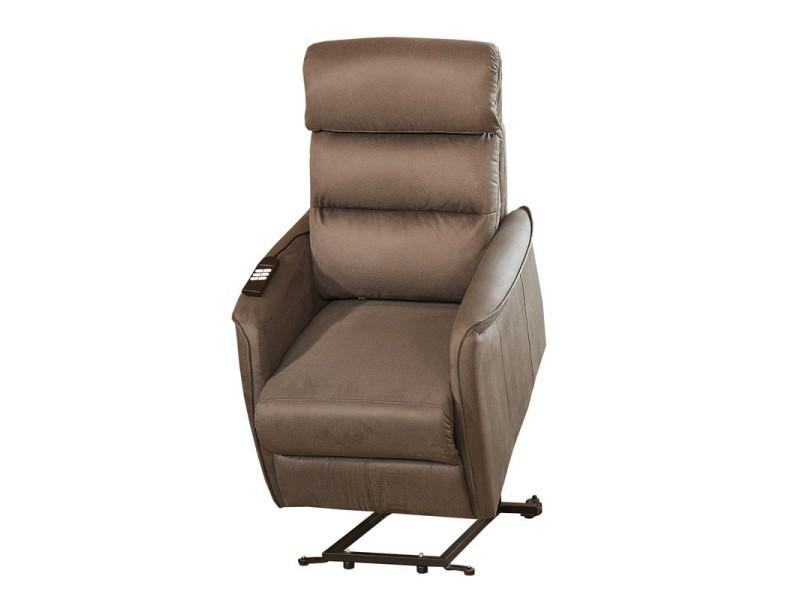 fauteuil relax releveur lectrique marron cendr softy. Black Bedroom Furniture Sets. Home Design Ideas