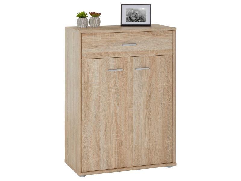 buffet calais commode tiroir rangement m lamin ch ne sonoma vente de idimex conforama. Black Bedroom Furniture Sets. Home Design Ideas