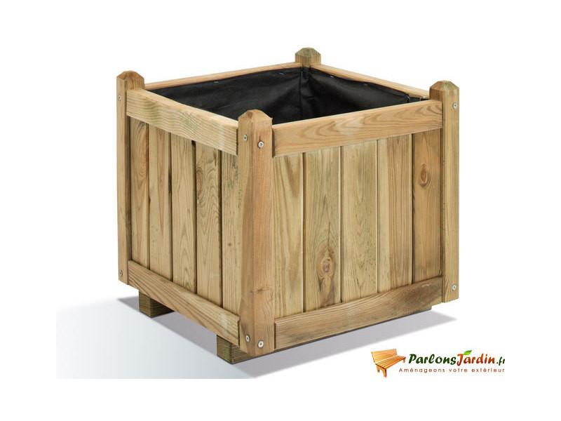 Jardinière carrée en bois vendôme 50 0281207