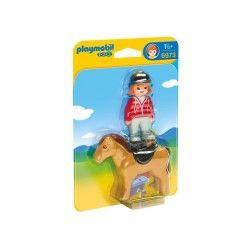 6973 playmobil cavalière avec cheval