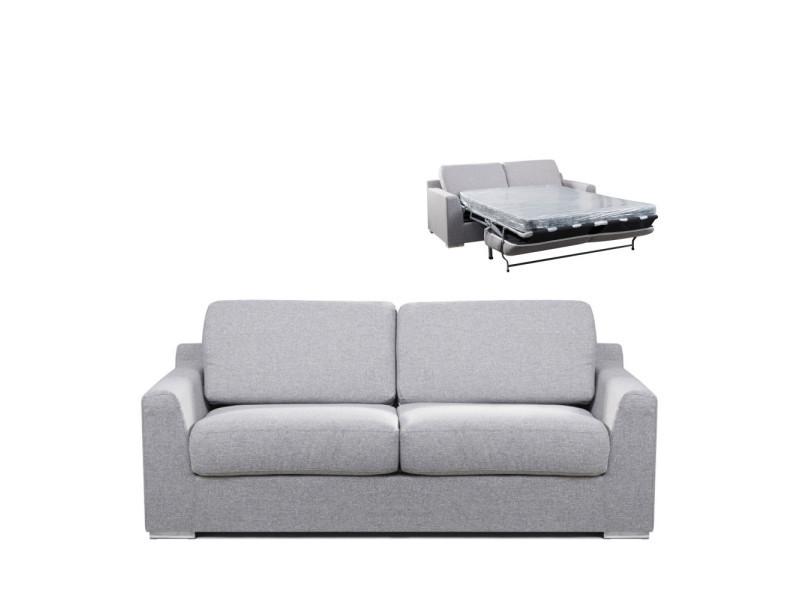 Butler - canapé convertible ouverture express 3 places - couleur - gris chiné LAK-258-P160-ND-6ASH