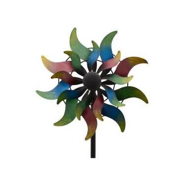Grand mobile pic tuteur de jardin eolienne moulin à vent