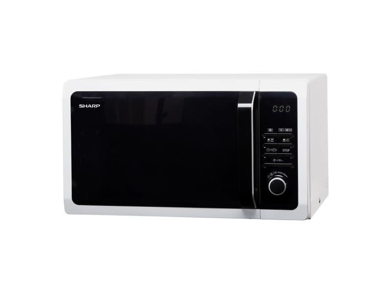 Four micro-ondes grill sharp r743w - pose libre - 25 litres - 900 watt - blanc