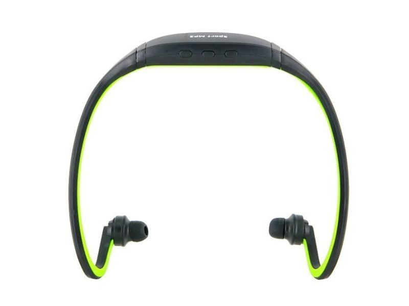 Casque Mp3 Sport Sans Fil Lecteur Audio Running Vélo Vert 16 Go