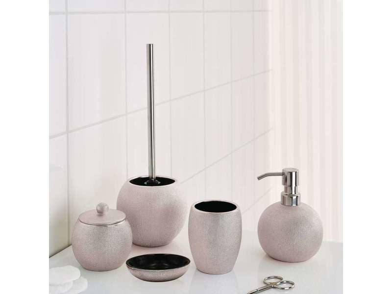 Ridder brosse de toilette avec support lucida rose pâle 429710