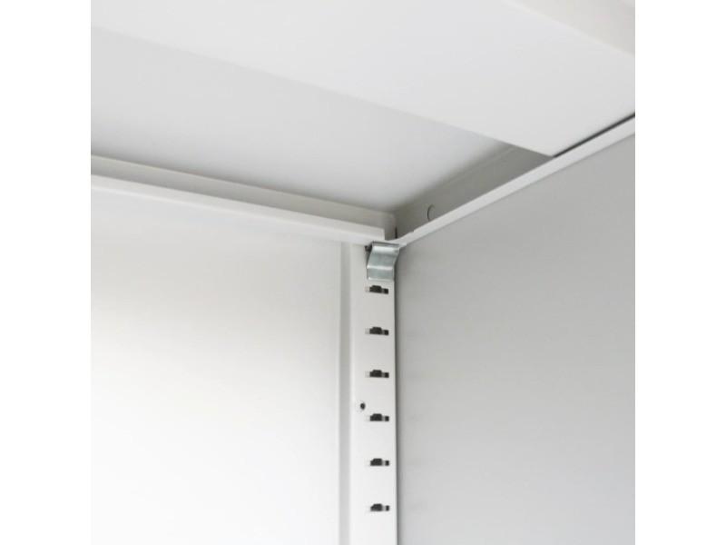 Icaverne - casiers et armoires de rangement collection armoire de bureau avec porte coulissante métal 90x40x90 cm gris