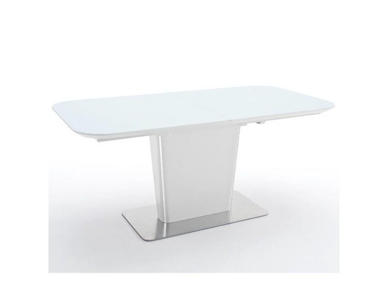 Table repas extensible design uma 140cm blanche 20100872013