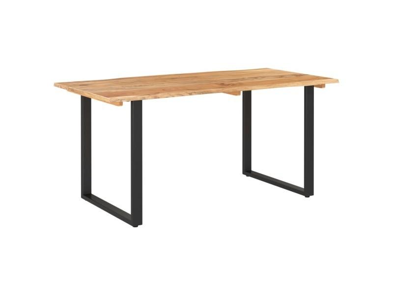 Vidaxl table de salle à manger 160x80x76 cm bois d'acacia solide 286473