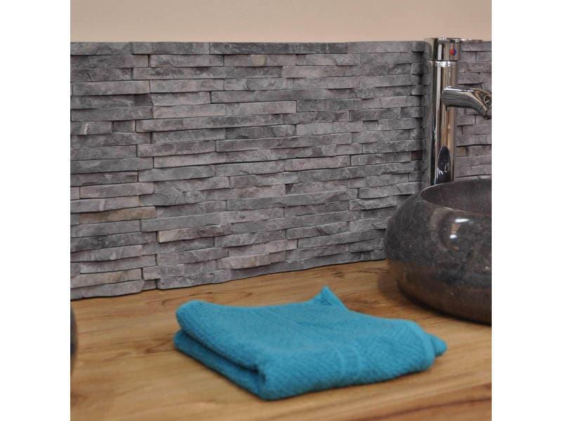 Parement en pierre naturelle marbre brut gris noir susunnoir vente de petits accessoires de - Accessoire salle de bain gris ...