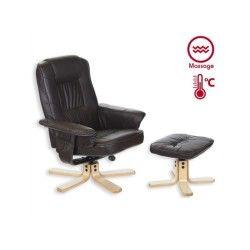 Fauteuil de relaxation massant comfort brun