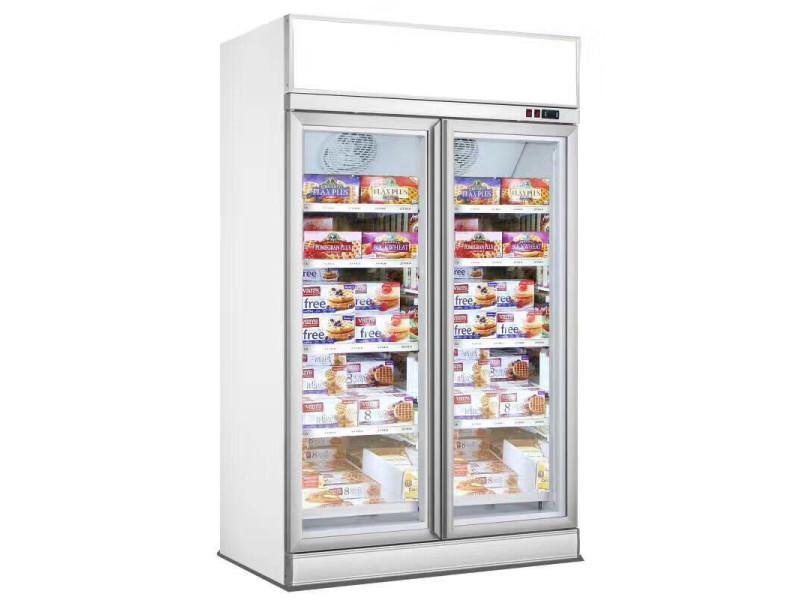 Armoire réfrigérée négative professionnelle blanche - 2 ou 3 portes - combisteel - r290 2 portes 1253 mm vitrée