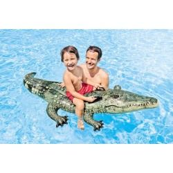 Crocodile gonflable réaliste à chevaucher