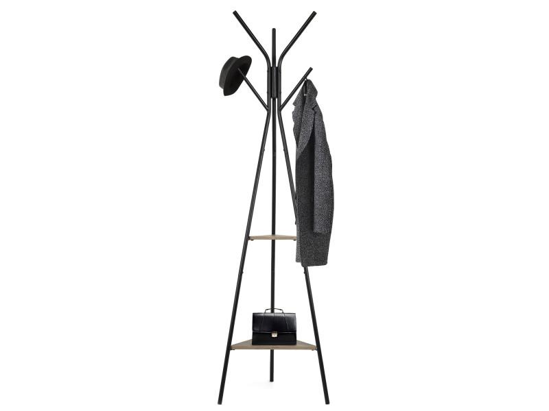 Meerveil porte-manteau cintres en métal conception du triangle style industriel rétro etendoir à linge Meerveil