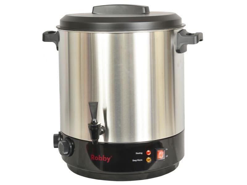 Stérilisateur de bocaux électrique cuve inox avec robinet et minuteur 31l 2100w - steri pro inox xl steri pro inox xl