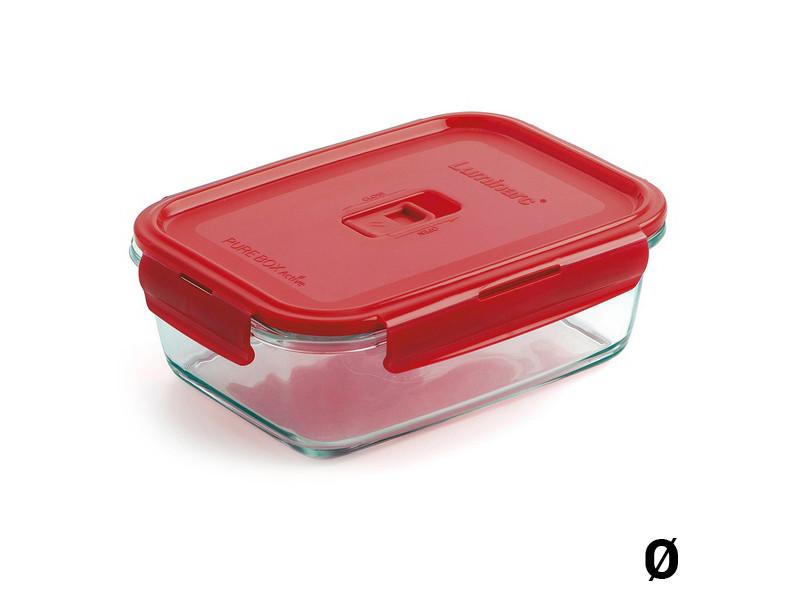 Ustensiles et accessoires de cuisine chic capacité 0,82 l boîte à lunch hermétique luminarc pure box active verre
