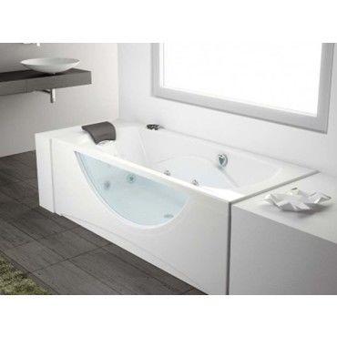 baignoire baln o visio rectangulaire 180 x 80 cm. Black Bedroom Furniture Sets. Home Design Ideas