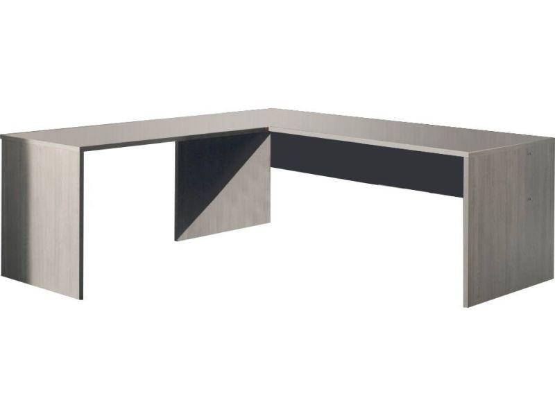 bureau d 39 angle 200 cm coloris bouleau gris vente de comforium conforama. Black Bedroom Furniture Sets. Home Design Ideas
