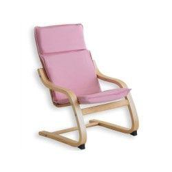 Fauteuil relax à bascule enfant coton rose