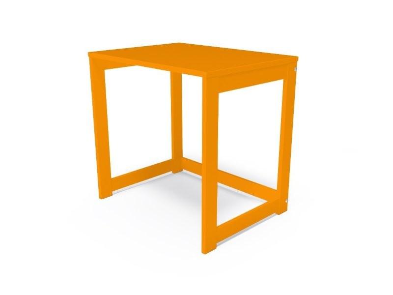 Bureau alban bois massif orange BURALB-O