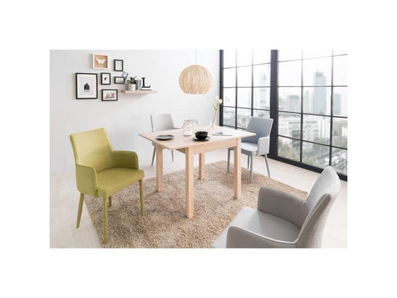 Table a manger seule coburg table a manger extensible de 4 a 6 personne classique décor chene - l 80-120 x l 80 cm