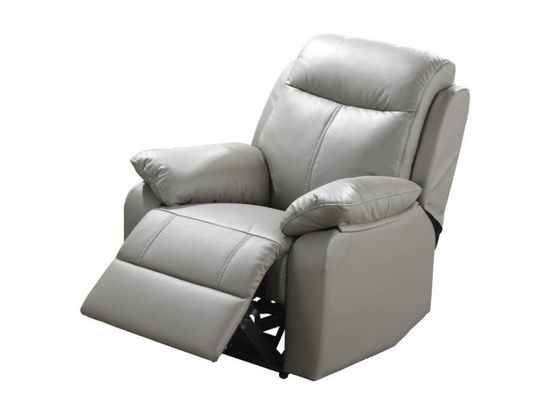 fauteuil relax lectrique cuir gris vyctoire l 88 x l 95 x h 101 neuf vente de. Black Bedroom Furniture Sets. Home Design Ideas