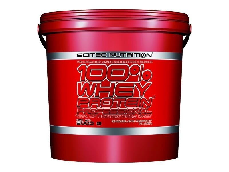 100% whey proteine professional 5000g choco-coco 5kg - scitec nutrition