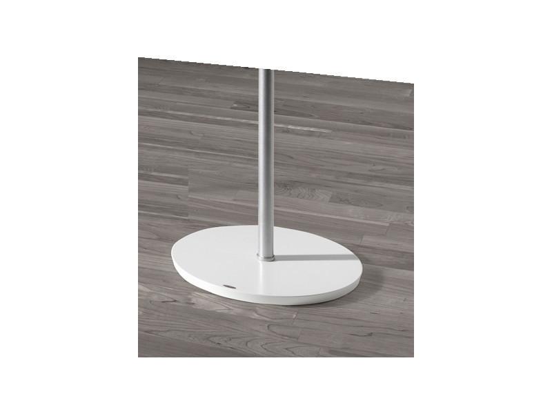Portemanteau métalique design blanc de 5 crochet, dim: l37 x p37 x h182 cm -pegane-