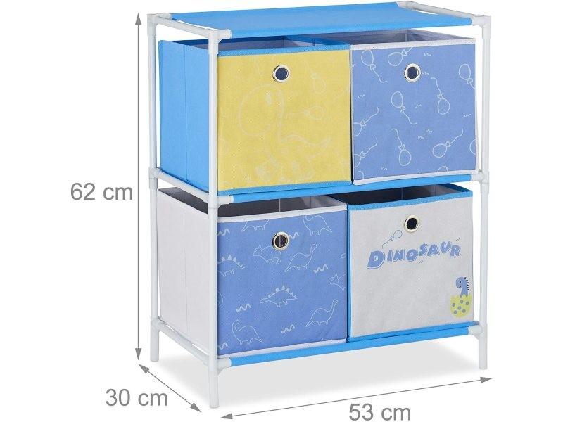 Étagère rangement jouets fillette design meuble chambre d'enfants helloshop26 13_0001133