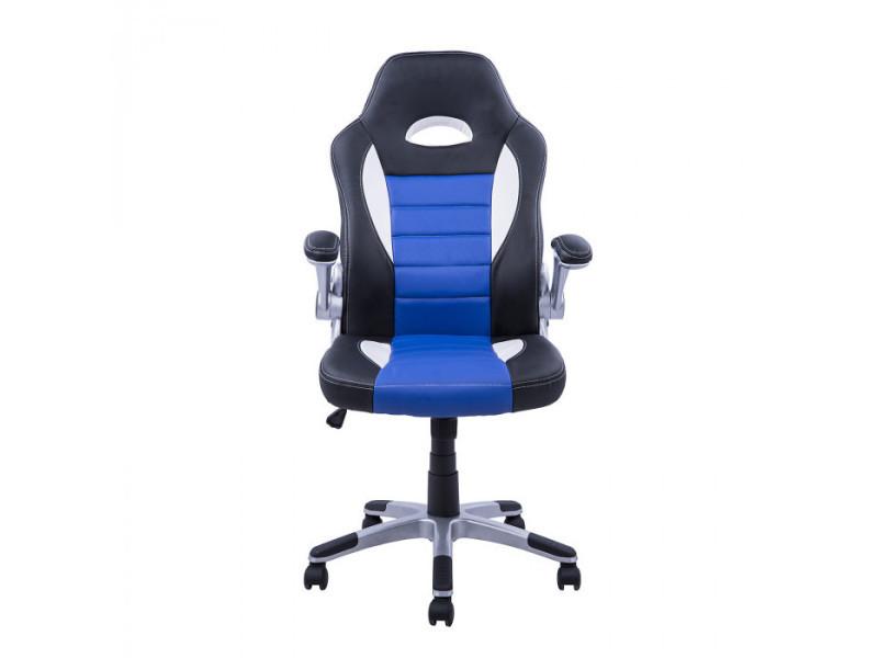 Fauteuil de bureau argus noir et bleu vente de fauteuil de bureau