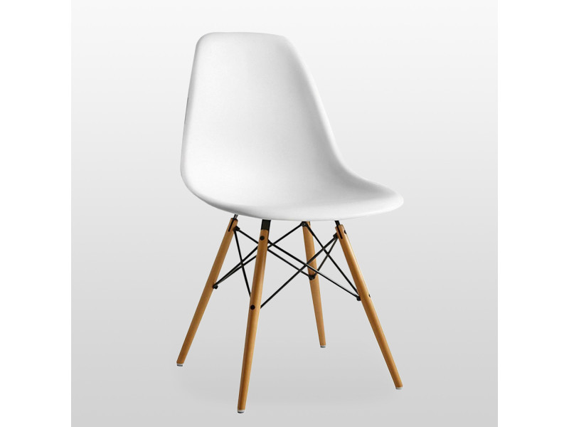 Chaise scandinave blanche style eiffel