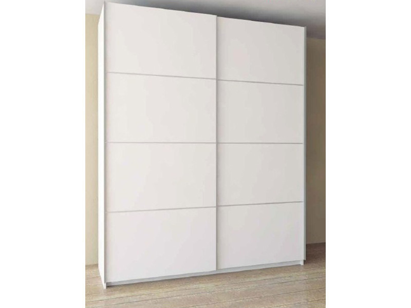 armoire avec 2 portes coulissantes coloris blanc dim 120 x 60 x 220 cm vente de dressing. Black Bedroom Furniture Sets. Home Design Ideas