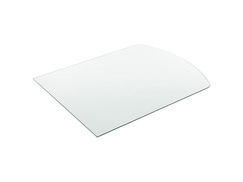 /® Tableau de Table Bureau Chevet Table de Jardin en Verre Tremp/é ESG Noir Bords Polis Meuble DIY /Épaisseur 8 mm Diam/ètre /Ø 60 cm Neu.Haus