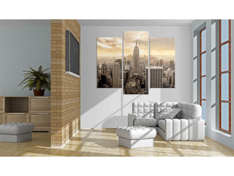 60x50 tableau new york villes inedit new york dans l'après