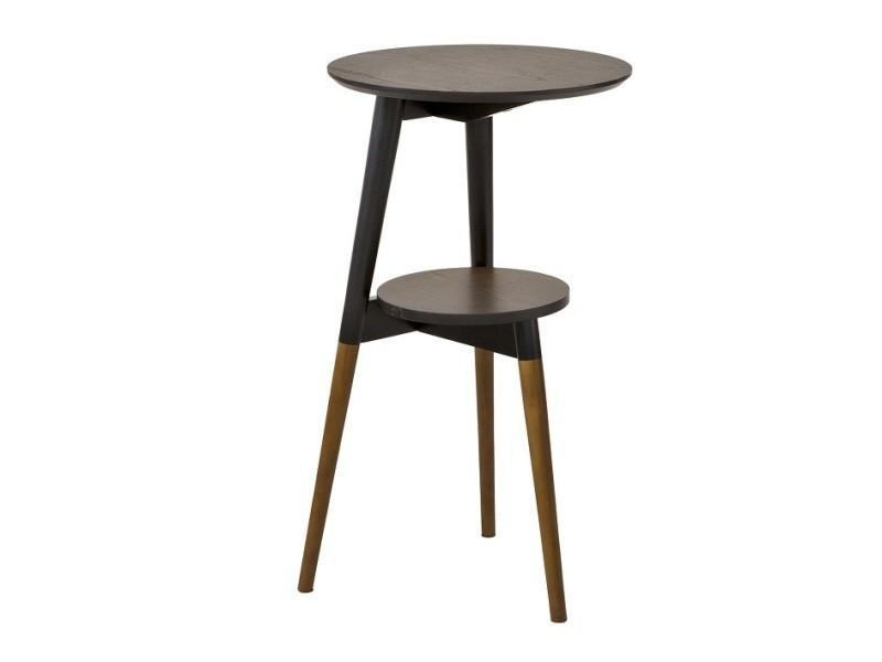 Table d'appoint design table basse table café ronde - 2 plateaux - 3 pieds fbt39-br fbt39-br sobuy®