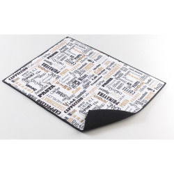 Tapis d'evier en microfibre à motifs 38 x 50.5 cm