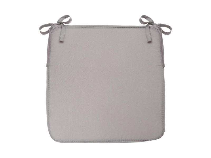 Atmosphera - galette de chaise grise 39x39
