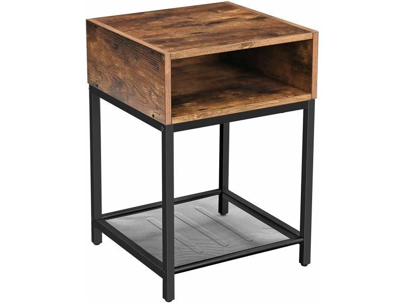 table de chevet  table de nuit  ramizu  effet bois