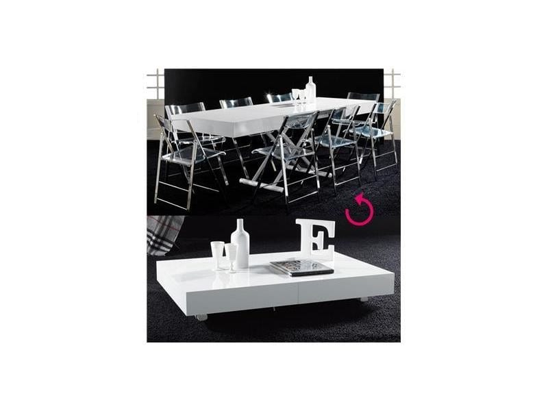 Table Basse Relevable Blanc Laque Design Bianca Vente De