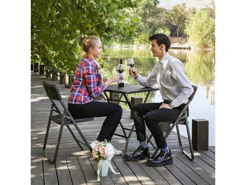 Table de jardin - alox - pliante - carrée