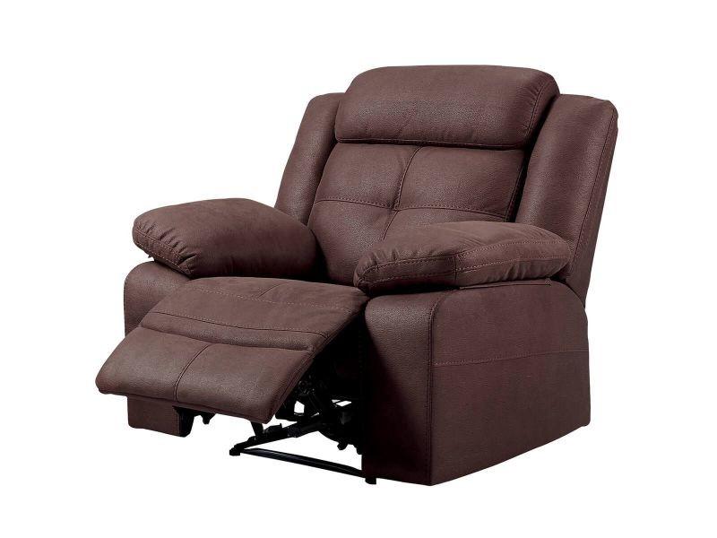 Fabares - fauteuil relax manuel chocolat